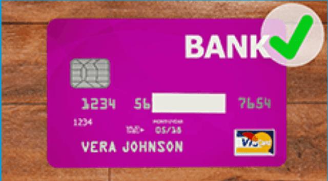 クレジットカード表面の正しい撮影方法