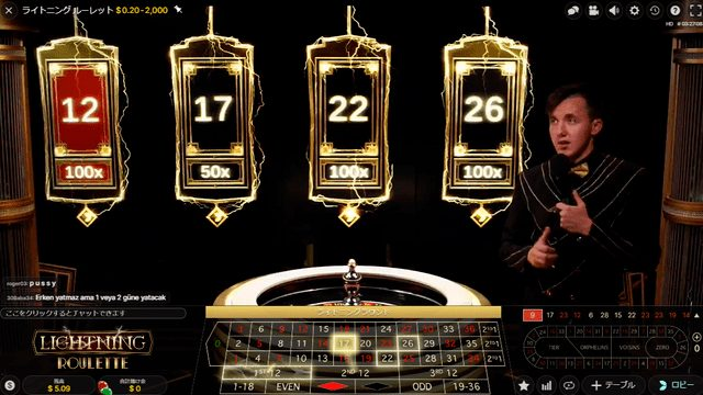 12、17、22、26の4つの数字が選ばれる