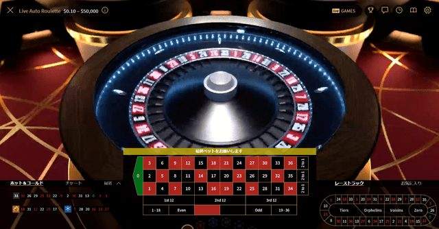 オンラインカジノでプレイヤーのベットが完了するよりも前にボールがルーレットに放出されるルーレット