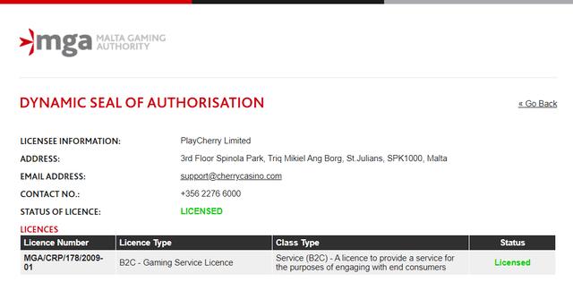 マルタ共和国のライセンス