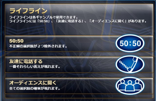 Who Wants To Be A Millionaire Megawaysライフライン
